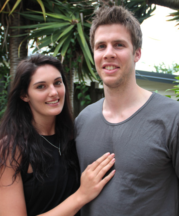 INDEPENDENT COUPLE: Monique Shaw is dating SkyCity Breakers player Thomas Abercrombie and is eager to establish her own career.