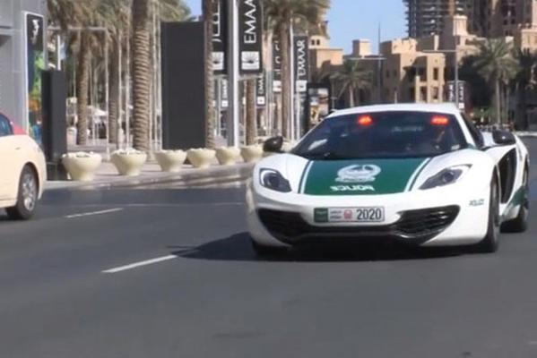 Dubai's latest police car, a McLaren MP4-12C.