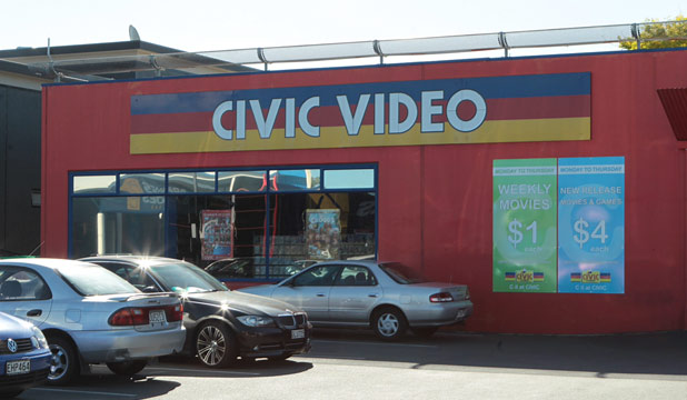 Closing up: Civic Video on Hamilton's Ulster St will sell off its more than 20,000 video and game titles after the shop shuts this weekend.