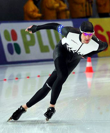 THE ICE MAN: Palmerston North's Shane Dobbin, here competing at Sochi in Russia, is set to contest his second Winter Olympics when he heads back there later this month.