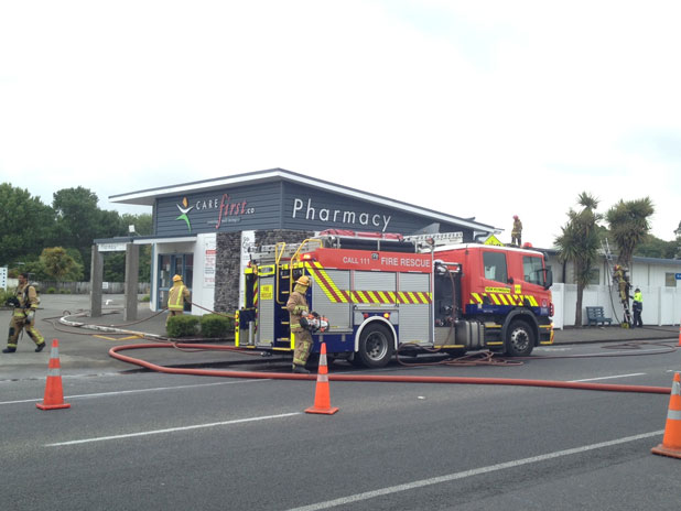 Fire fighters are at a New Plymouth medical centre this morning.