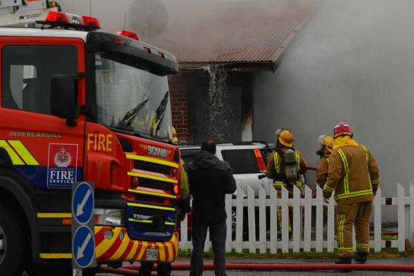 Tweed St, Invercargill, house fire. Jan 8, 2014