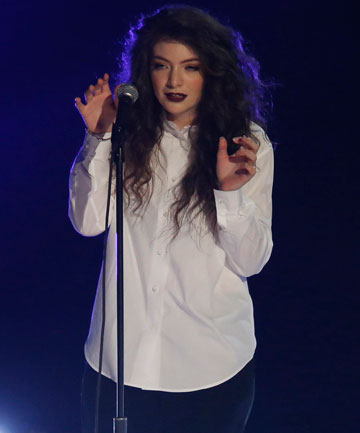 STARS COLLIDE: Lorde met Bowie and was a bit awestruck.