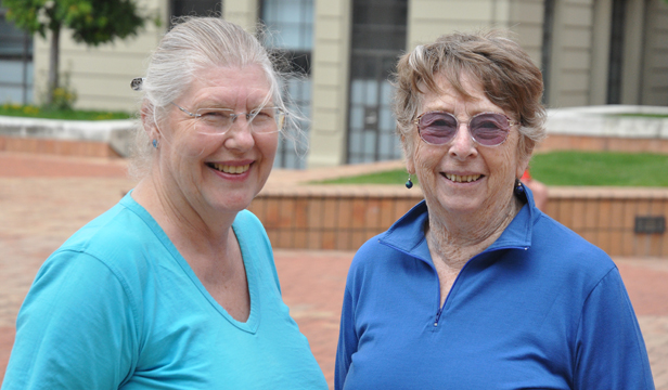 Honoured: Janet Forbes, left, and June Nixey, who have been visiting Arohata Prison for two decades.