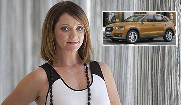 Amanda Stevens found herself trapped in her car when it locked itself with her inside.