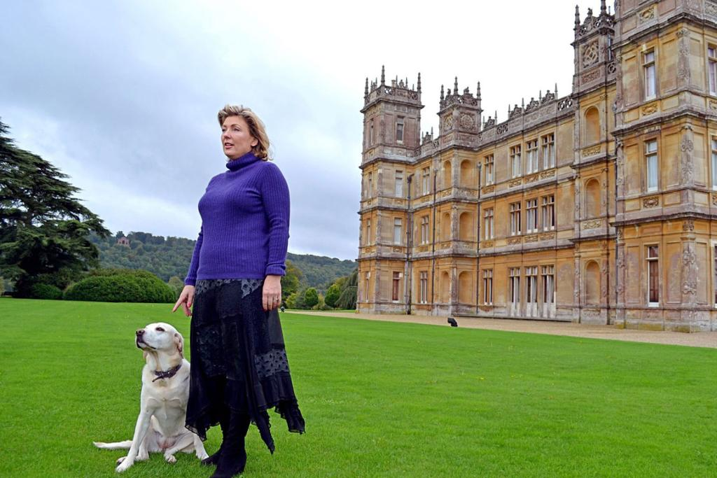 """Lady Fiona Carnarvon, the countess of Highclere Castle, which stands in for """"Downton Abbey,"""" the wildly popular series that begins its fourth season this year."""
