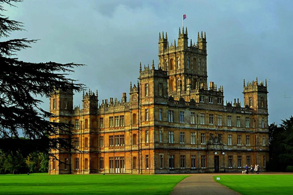 """Highclere Castle, the stand-in for the fictional, """"Downton Abbey"""" series, which returns for its fourth season Jan. 5. The castle is about 5 miles from the town of Newbury, England."""