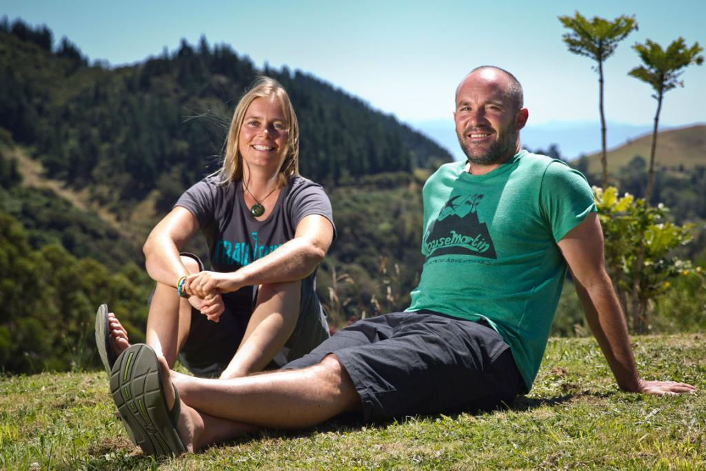 Sven Martin and Anka Martin relax on their Hira property.