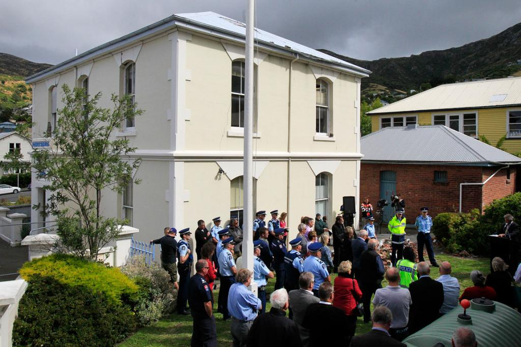 HISTORICAL BUILDING: Police hold a function to bid farewell to the building.