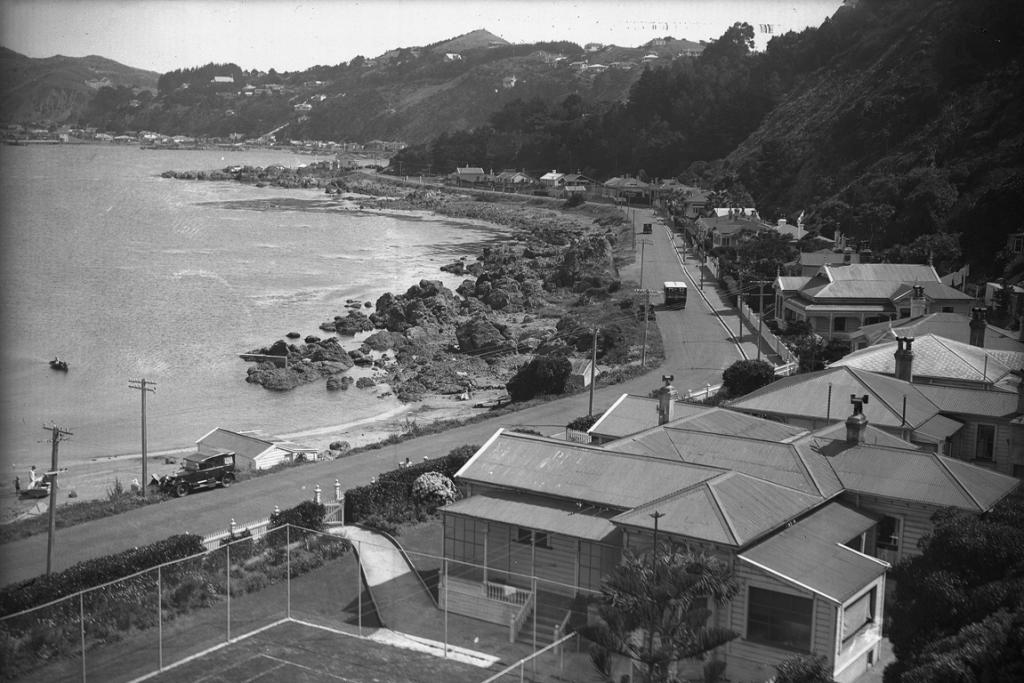 THE: Karaka Bay in the 1920s, long before the film stars arrived.