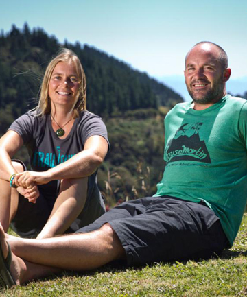 EASY CHOICE: Anka Martin, left, and Sven Martin relax on their Hira property.
