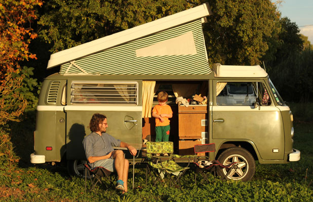 Kombi travel in southern France