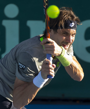 FIGHTING BACK: David Ferrer showed signs of leveling in the second set, but couldn't take out the tiebreak.