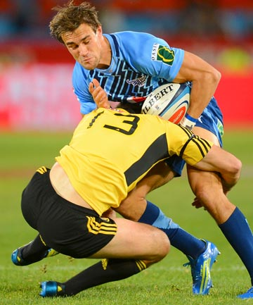 KNOCKOUT: Hurricanes captain Conrad Smith was concussed while tackling a Bulls player in Pretoria last season.