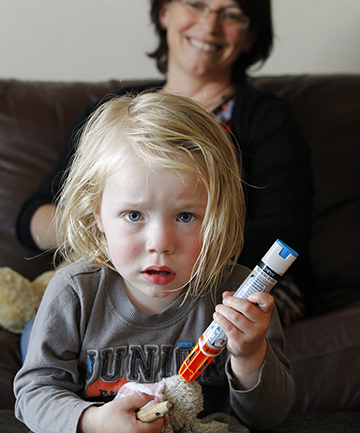 HELPING HAND: Saving teddy's life is all in a day's work for Otto Richardson, 2.