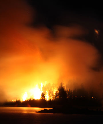 Moutaki Island fire