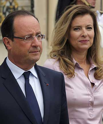 French President Francois Hollande and first lady Valerie Trierweiler