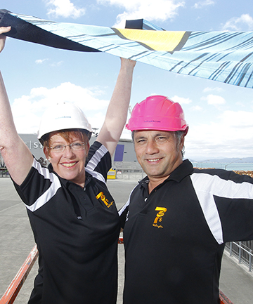 GEARING UP: Wellington Mayor Celia Wade-Brown and Sevens general manager Marty Donoghue.