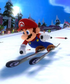 DOWNHILL FAST: Mario features in Winter Olympics game that promised much but didn't always deliver.