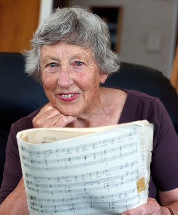 HONOURED:  Merle Gibson has been devoted to music and the community.