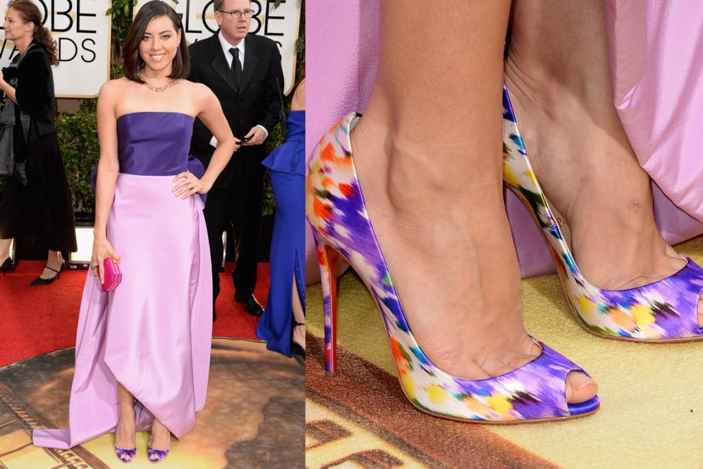 THE WRONG PERSON: It's almost like Aubrey Plaza's stylist went - 'I'm going to dress you the least like Aubrey Plaza as possible' with this Oscar De La Renta number.