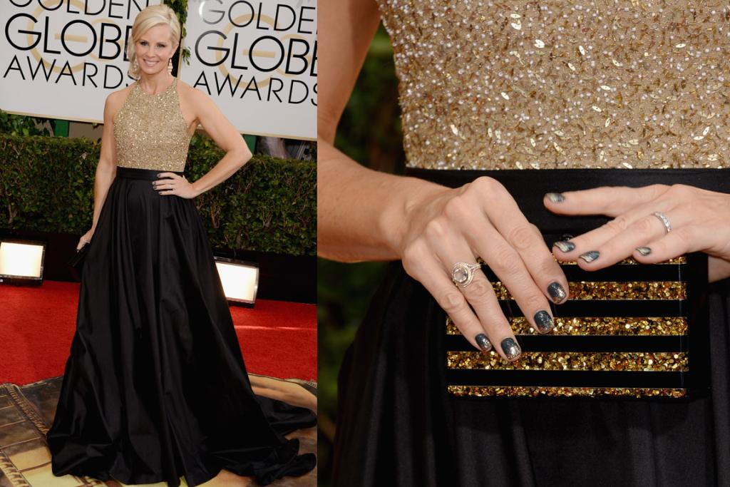 THE MEH: Did Monica Potter think she was going to the Country Music Awards? (I do love her nails though).