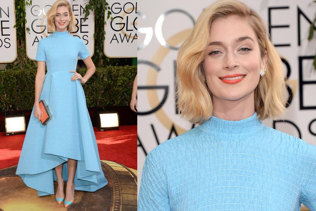 THE GOOD: I like how Masters Of Sex star Caitlin Fitzgerald has dressed almost like her character, and while in the up close shot it looks like she's wrapped my bed throw around her neck, she actually totally works this Emilia Wickstead dress - and those Wickstead pumps are my fave shoes so far.