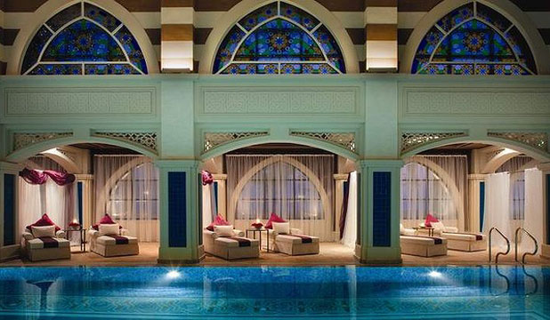 PEACE AND QUIET: The thalassotherapy pool is divided into male, female and couples areas and has three traditional hammams.