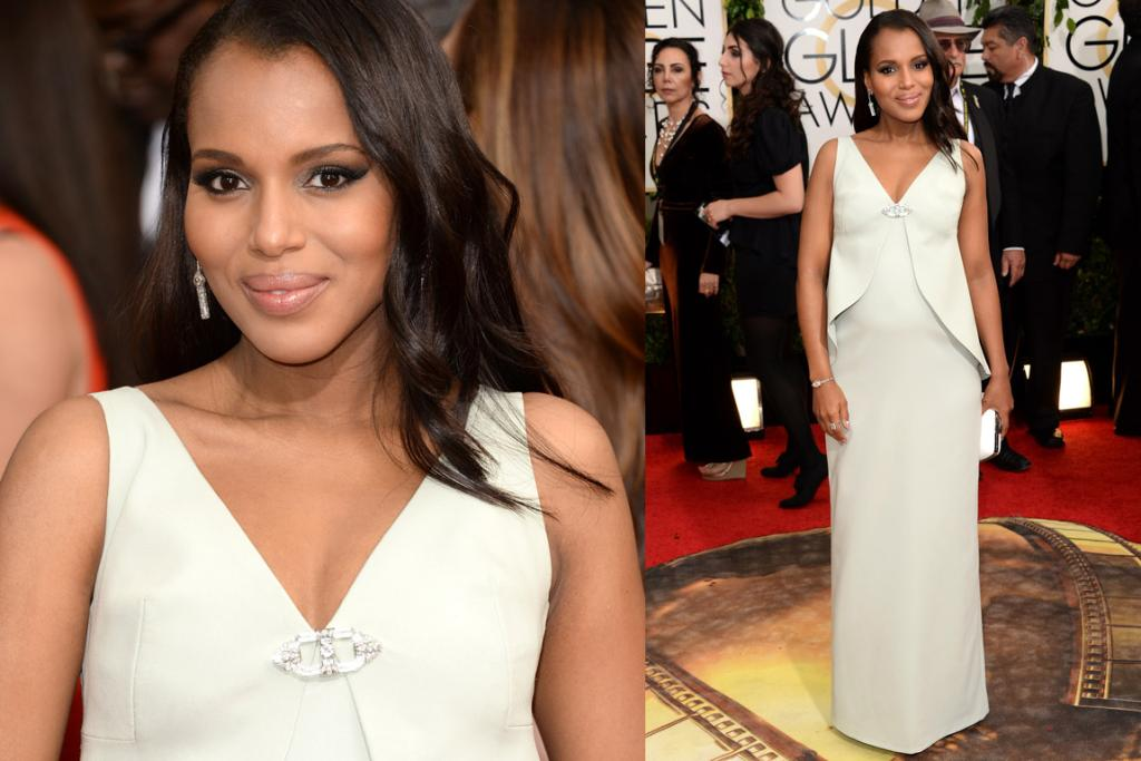 THE GOOD (MATERNITY EDITION): Everyone knew Kerry Washington was preggos, even though she hadn't confirmed it, but now we definitely know! So that's sorted ... and the fact that she's a full fashion icon has now been cemented by the fact Balenciaga made her this custom gown (I love the little homage to Olivia Pope - who always wears white).