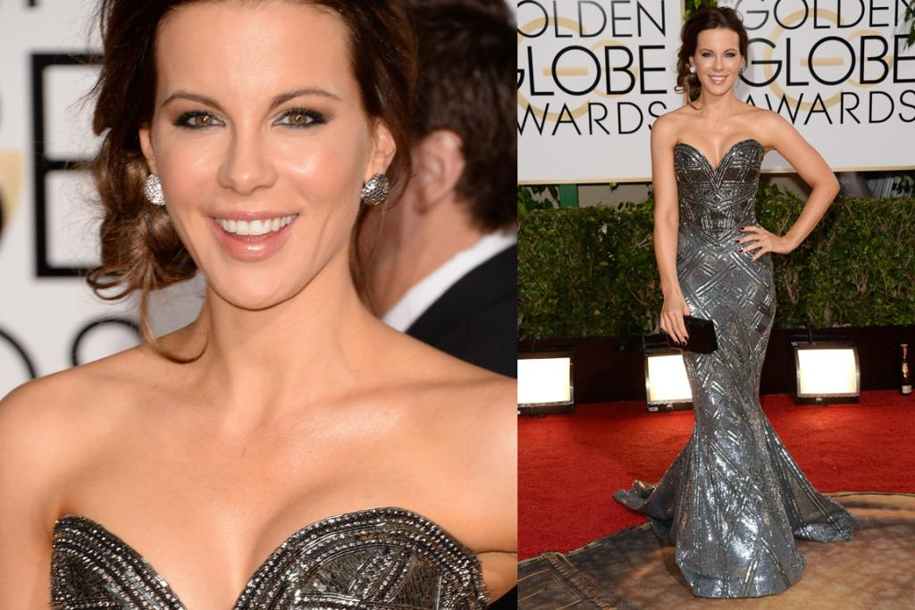 THE GOOD: Kate Beckinsale should pretty much copyright this style on the red carpet because she always owns it. This particular incarnation of her brand of glam is by Zuhair Murad. Side note: has she been in ANYTHING recently?