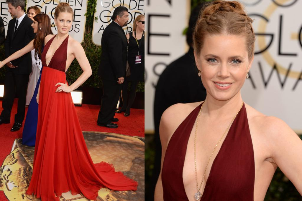 A BEST CONTENDER: While I never expected I'd see this much of Amy Adams' inner boob on the red carpet EVER, there's no denying she's an absolute knock-out in Valentino. Also, she wins least-contrived ergo best updo of the night so far.