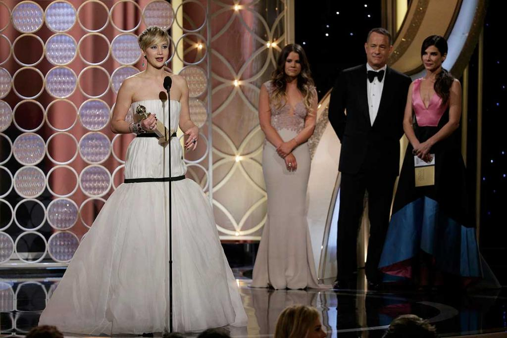 Jennifer Lawrence has won the Golden Globe for best supporting actress in a movie for American Hustle.