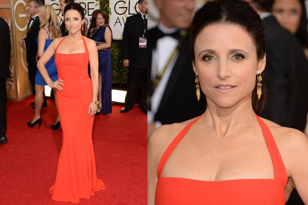 THE GREAT: Stop the press folks, Julia Louis Dreyfus is fifty-freaking-two - how smoking does she look in this Narciso dress? Also, my Veep girl crush got me googling her recently, and do you know she's heiress to billions of dollars (her French dad is mega loaded). She's amazing AND rich.