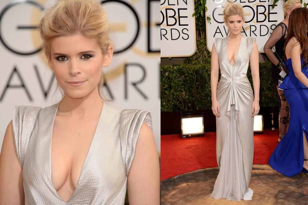 THE GREAT: A newly blonde Kate Mara came out to support her show House of Cards wearing a futuristic J Mendel gown. For me, this is a smash hit - it's different yet still elegant.