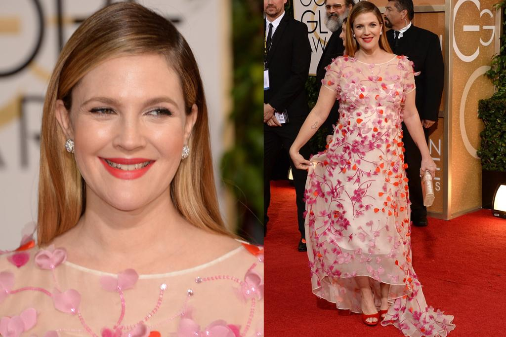 THE GOOD (PREGNANCY EDITION): If Drew Barrymore wasn't up the duff, then this Monique Lhuillier gown would be a fail, but the floral ensemble is a fun way to cover one's bump. PS: DAMN YOU Monique what's-your-face for having a name that I have to Google to spellcheck EVERY. SINGLE. TIME.