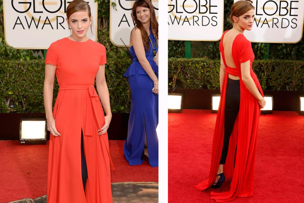 THE MOST DIFFERENT: When I saw wee Emma Watson's Dior dress from the front I was all, 'NEXT, no soup for you', but from the back?! Hot diggity dog she's wearing pants ... and a dress ... and it looks amazing. 