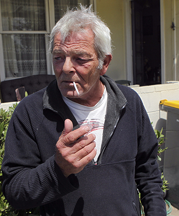 TOUGH SPOT : Aranui resident Shane Mathewson says smoking helps relieve stress. He lives in the suburb with most smokers in Christchurch, with one in three residents claiming to be regular smokers in the 2013 census.