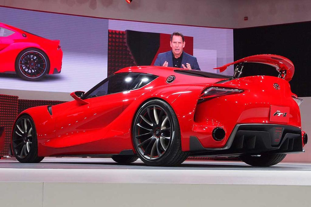 Toyota FT-1 concept is unveiled at the Detroit Motor Show.