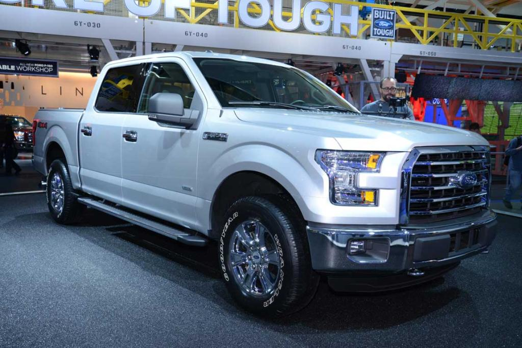 Ford's 2015 F-150 is unveiled at the Detroit Auto Show.