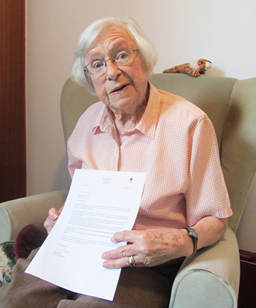 FEELING HELPLESS: Eileen Moore is facing an uncertain future as the 87-year-old UK resident is ineligible for resthome funding due to her lack of permanent