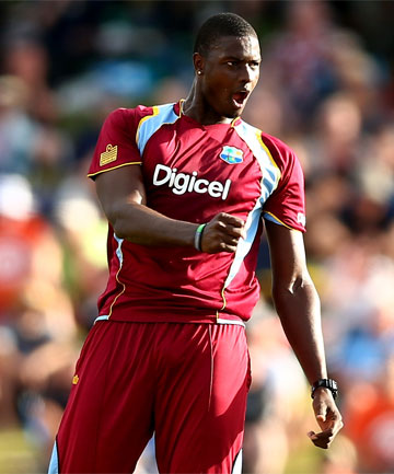 OTAGO SIGNING: Jason Holder in action for the West Indies against the Black Caps.