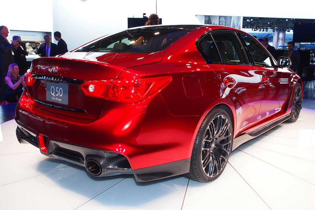 Infiniti Q50 Eau Rouge is unveiled at the Detroit Auto Show.