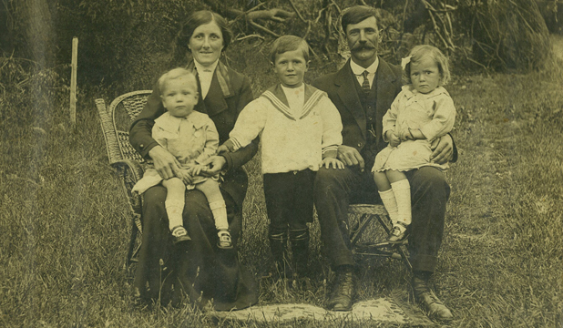 FAMILY PORTRAIT: Do you recognise this family? The photo was found recently in a chest of drawers.