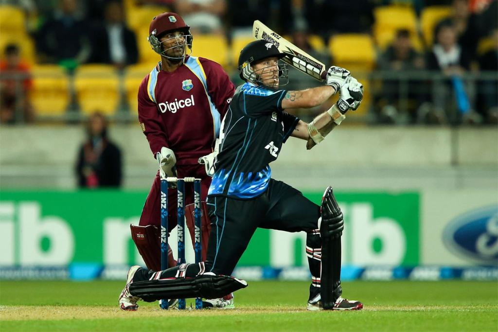 Luke Ronchi hit an unbeaten half century as the Black Caps won the second T20 against the West Indies.