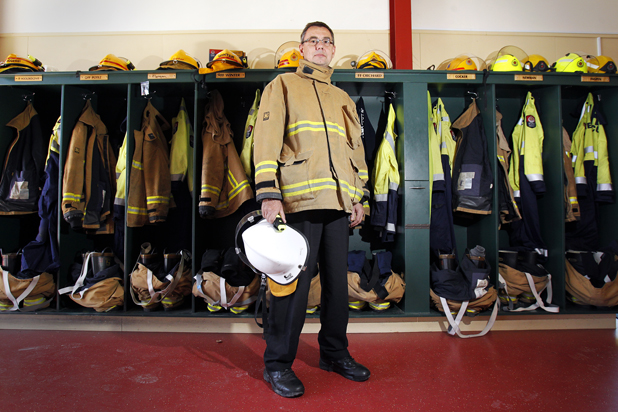 Complacency fears: Renwick chief fire officer Murray Neal fears a faulty alarm system at Base Woodbourne could stop people reacting to a real fire.