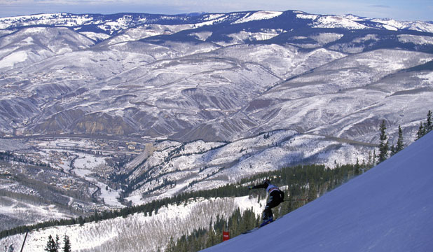 FAMOUS SLOPES: A general view of the mountains at Beaver Creek in Vail, Colorado.