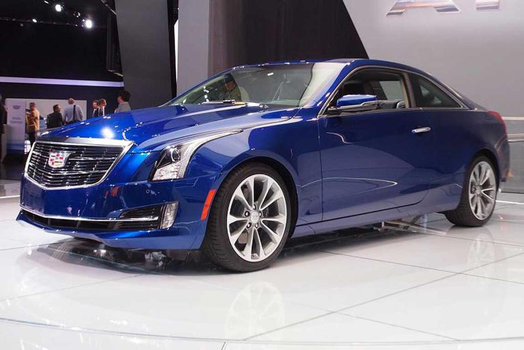 Cadillac ATS unveiled at the Detroit Auto Show.