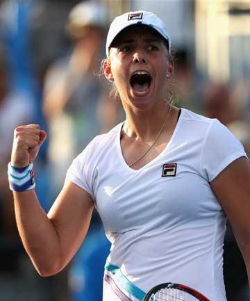 DOUBLE BOUNCED: Marina Erakovic lost in both singles and doubles on a day when temperatures reached 43C at Melbourne Park.