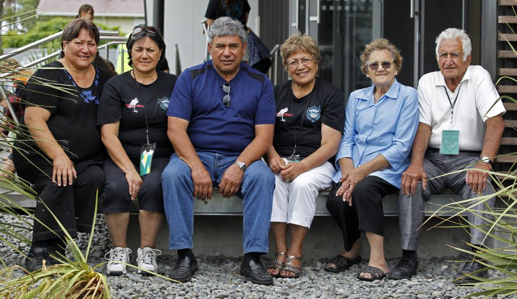 There are 13 of 21 Macdonald family siblings who remain from Manny Macdonald's family.   Six of the siblings were at the Macdonald family reunion yesterday, from left, Milly Finlay, 57, Moira Hebberd, 62, Phillip Macdonald, 65, Kahu Gordon, 68, Isobel Macdonald Smith, 81, Cappy Macdonald, 86.