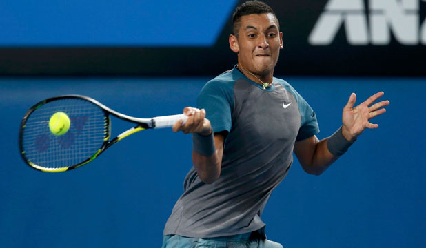 BRIGHT FUTURE: Young tennis player Nick Kyrgios made it to day four of the Australian Open before being beaten in five sets by France's Benoit Paire.